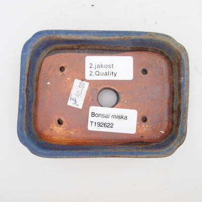 Ceramic bonsai bowl 2nd quality - 12 x 9 x 3 cm, brown-blue color - 3