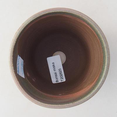 Ceramic bonsai bowl 10 x 10 x 9 cm, color green - 3