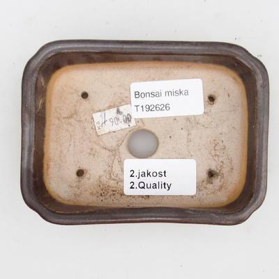 Ceramic bonsai bowl 2nd quality - 12 x 9 x 3 cm, brown color - 3