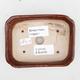 Ceramic bonsai bowl 2nd quality - 12 x 9 x 3 cm, brown color - 3/4