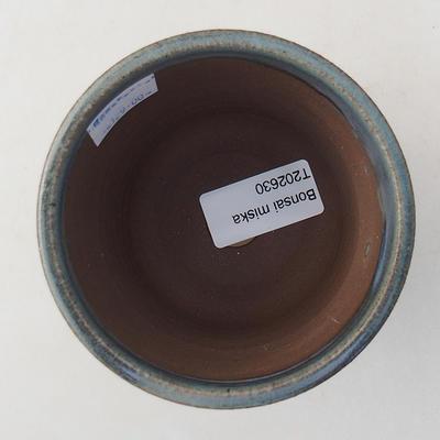 Ceramic bonsai bowl 9 x 9 x 8 cm, color blue - 3