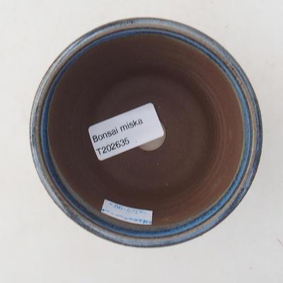 Ceramic bonsai bowl 9 x 9 x 7.5 cm, color blue - 3