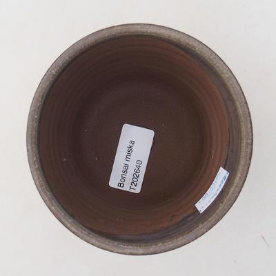Ceramic bonsai bowl 9.5 x 9.5 x 9 cm, gray color - 3