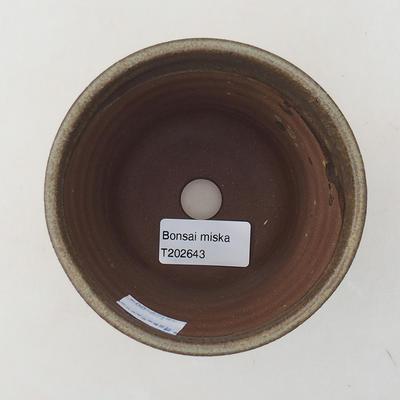 Ceramic bonsai bowl 10 x 10 x 9 cm, color brown - 3