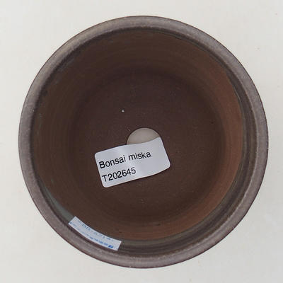 Ceramic bonsai bowl 9.5 x 9.5 x 9 cm, brown color - 3