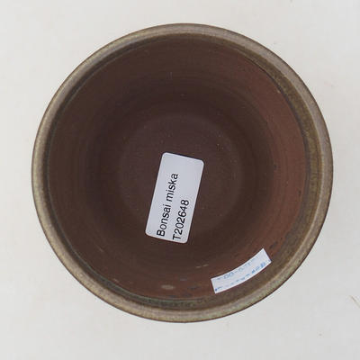 Ceramic bonsai bowl 10 x 10 x 9 cm, color brown - 3