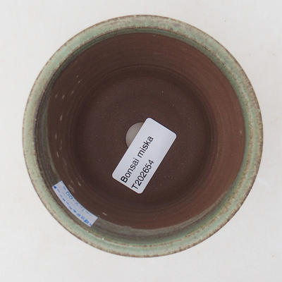 Ceramic bonsai bowl 9 x 9 x 8.5 cm, color green - 3