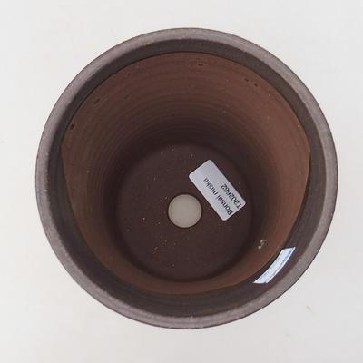 Ceramic bonsai bowl 13.5 x 13.5 x 17 cm, brown color - 3