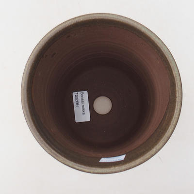 Ceramic bonsai bowl 13 x 13 x 16.5 cm, brown color - 3