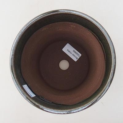 Ceramic bonsai bowl 14.5 x 14.5 x 17 cm, color green - 3
