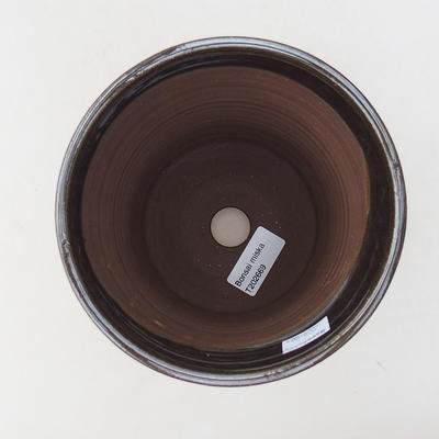 Ceramic bonsai bowl 14 x 14 x 16.5 cm, metal color - 3
