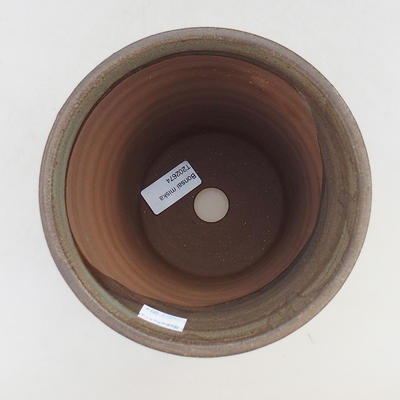 Ceramic bonsai bowl 15 x 15 x 16 cm, color brown - 3
