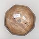 Ceramic bonsai bowl 15.5 x 15.5 x 6.5 cm, brown color - 3/3