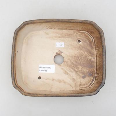 Ceramic bonsai bowl 20 x 17 x 5.5 cm, brown color - 3