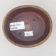 Ceramic bonsai bowl 10.5 x 9 x 4.5 cm, brown color - 3/3