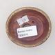 Ceramic bonsai bowl 7.5 x 6.5 x 3.5 cm, brown color - 3/3