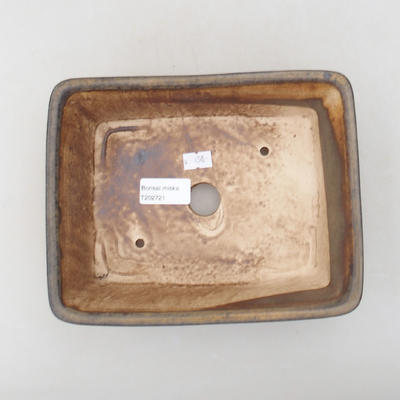 Ceramic bonsai bowl 20.5 x 16.5 x 6.5 cm, brown color - 3
