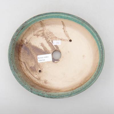 Ceramic bonsai bowl 23.5 x 21 x 5 cm, color green - 3