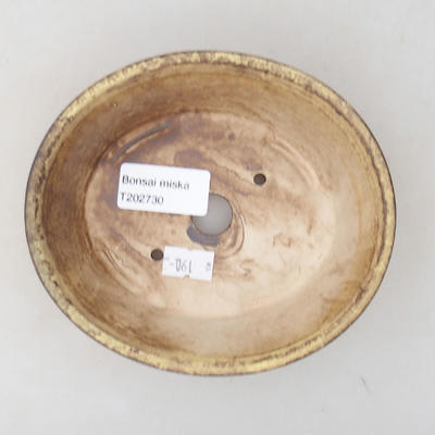 Ceramic bonsai bowl 14 x 12 x 3.5 cm, color yellow - 3