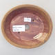 Ceramic bonsai bowl 14 x 12 x 3.5 cm, brown color - 3/3