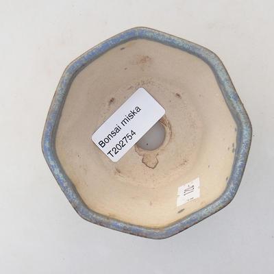 Ceramic bonsai bowl 8.5 x 8.5 x 5.5 cm, color blue - 3