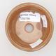 Ceramic bonsai bowl 8 x 8 x 3 cm, color brown-green - 3/4