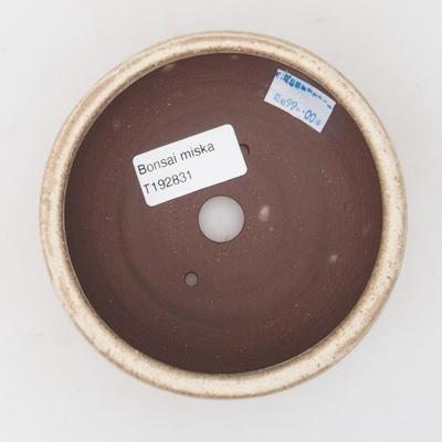 Ceramic bonsai bowl 10.5 x 10.5 x 5 cm, color beige - 3