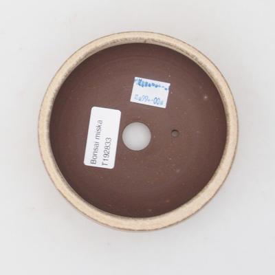 Ceramic bonsai bowl 11 x 11 x 4 cm, color beige - 3