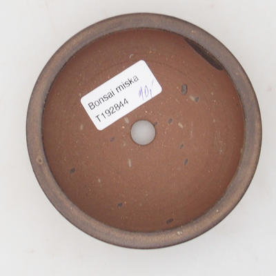 Ceramic bonsai bowl 10 x 10 x 3,5 cm, brown color - 3