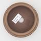 Ceramic bonsai bowl 11 x 11 x 4 cm, brown color - 3/4
