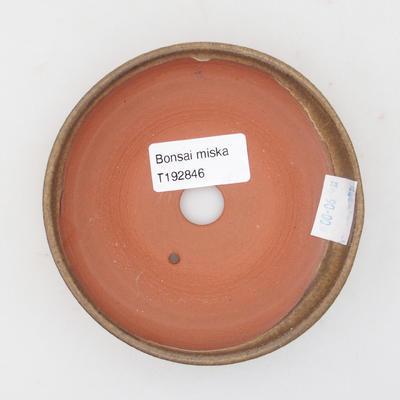 Ceramic bonsai bowl 11 x 11 x, 3 cm, brown color - 3