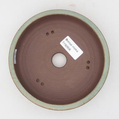 Ceramic bonsai bowl 15 x 15 x 4 cm, brown-green color - 3