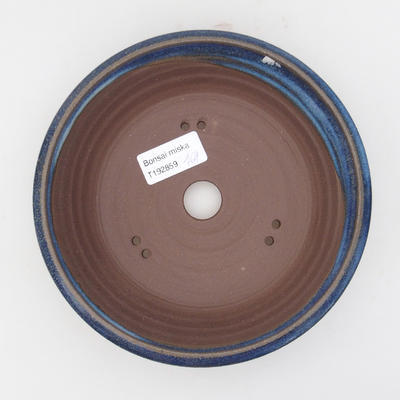 Ceramic bonsai bowl 17 x 17 x 4,5 cm, color blue - 3