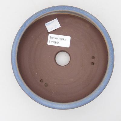 Ceramic bonsai bowl 16 x 16 x 5 cm, color blue - 3