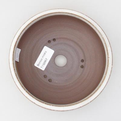 Ceramic bonsai bowl 15 x 15 x 5,5 cm, color white - 3