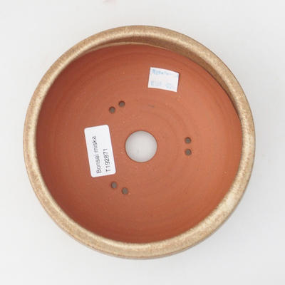 Ceramic bonsai bowl 15 x 15 x 6,5 cm, color beige - 3
