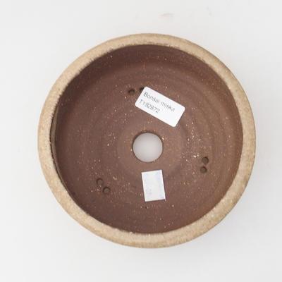 Ceramic bonsai bowl 16 x 16 x 6 cm, color beige - 3