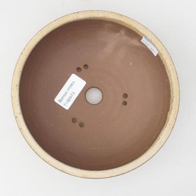 Ceramic bonsai bowl 16,5 x 16,5 x 6 cm, color beige - 3