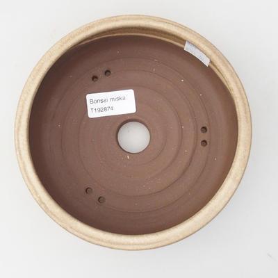 Ceramic bonsai bowl 16,5 x 16,5 x 5 cm, color beige - 3