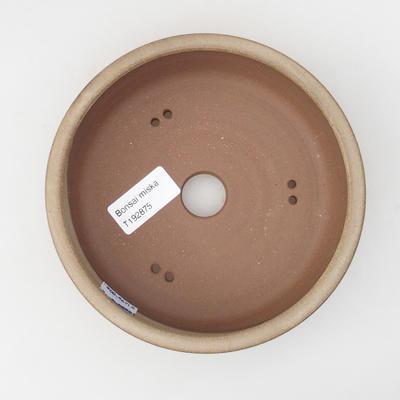Ceramic bonsai bowl 15,5 x 15,5 x 4,5 cm, color beige - 3