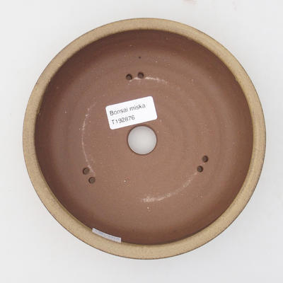 Ceramic bonsai bowl 17 x 17 x 4,5 cm, yellow-brown color - 3