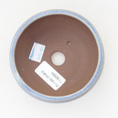 Ceramic bonsai bowl 10 x 10 x 4,5 cm, color blue - 3