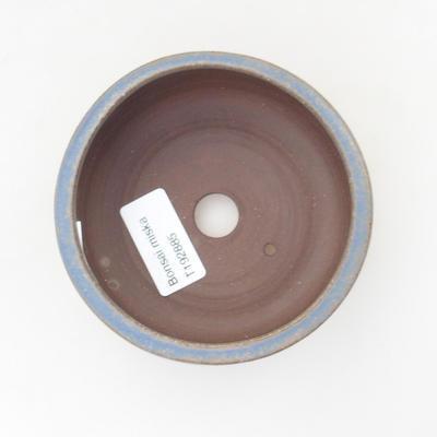 Ceramic bonsai bowl 10 x 10 x 4 cm, color blue - 3