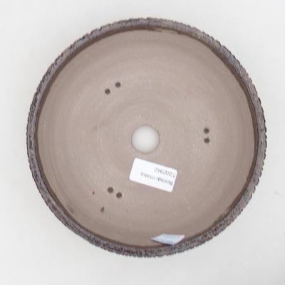 Ceramic bonsai bowl 18 x 18 x 6 cm, color brown - 3