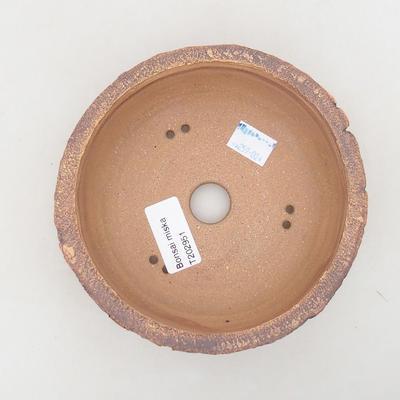 Ceramic bonsai bowl 14 x 14 x 6 cm, gray color - 3