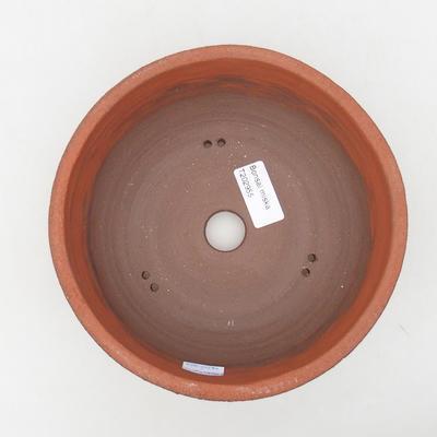 Ceramic bonsai bowl 18 x 18 x 7 cm, gray color - 3