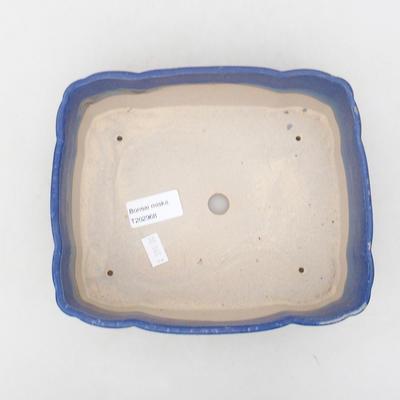 Ceramic bonsai bowl 20 x 17 x 6.5 cm, color blue - 3