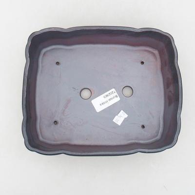 Ceramic bonsai bowl 20 x 17 x 6.5 cm, metal color - 3