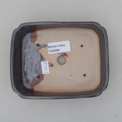 Ceramic bonsai bowl 15 x 12 x 4 cm, color brown - 3