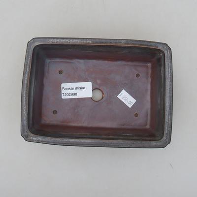 Ceramic bonsai bowl 16.5 x 11.5 x 5 cm, metal color - 3